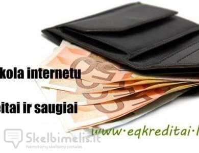Greitasis kreditas internetu vos per 15 min
