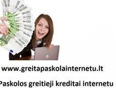 SMS kreditas. Paskolos internetu. Greitas kreditas