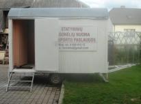 Statybinių (konteinerinių) vagonėlių nuoma