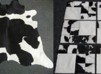 Išpardavimas. Karvės kailio kilimo ir padėkliuk