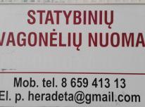 Statybinių vagonėlių nuoma Vilniuje