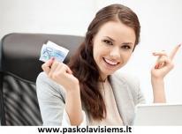 Paskolos internetu. Greitas kreditas. SMS kreditai
