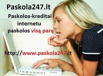 Paskolos internetu. Greitas kreditas. Paskola per